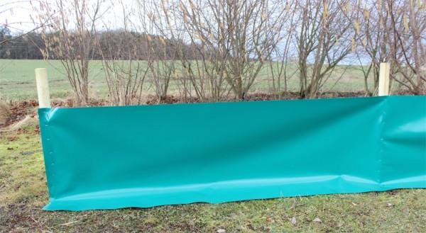 Reptilienschutzzaun 50 cm für Holzpfosten & Tackernägel