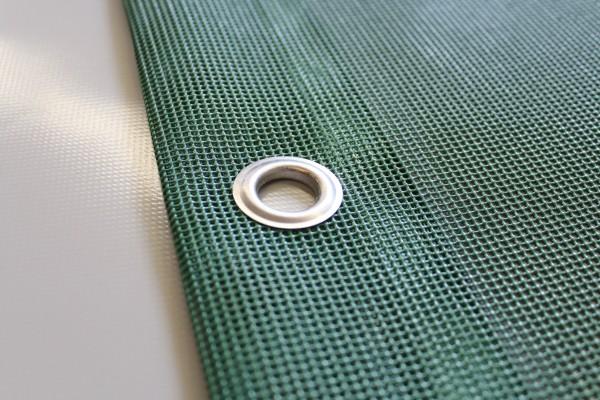 PVC Netz mit Saum und Ösen alle 50cm, moosgrün