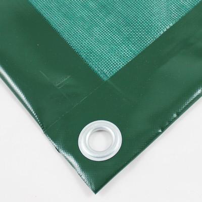 PVC Netz mit Saum und Ösen alle 1m, moosgrün