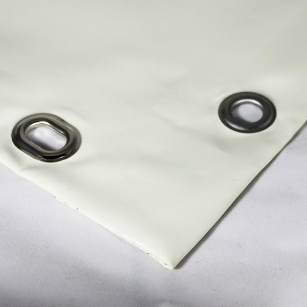 PVC matt mit Saum und Ösen alle 50cm, cremeweiß