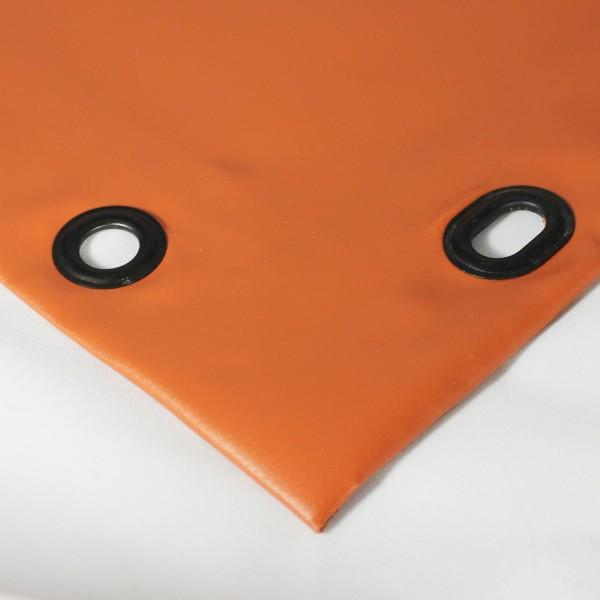 PVC matt mit Saum und Ovalösen alle 50cm, ton