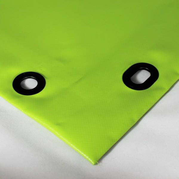 PVC matt mit Saum und Ovalösen alle 50cm, grasgrün