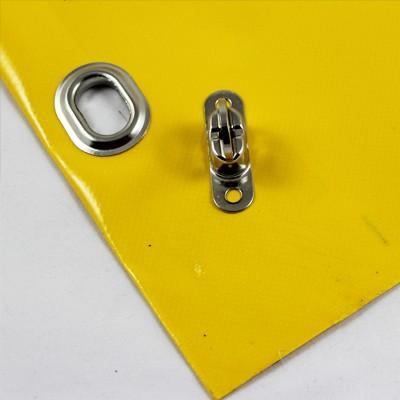 mit Saum und Ovalösen alle 1m, gelb, inkl. Drehwirbel