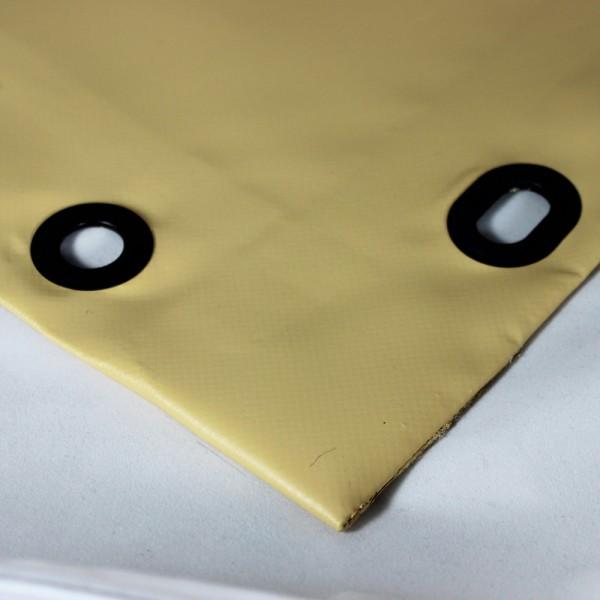 PVC matt mit Saum und Ösen alle 50cm, beige dunkel